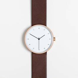 INSTRMNT 時計  DARK BROWN/WHITE