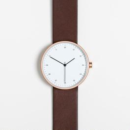 INSTRMNT 時計  DARK BROWN/WHITE