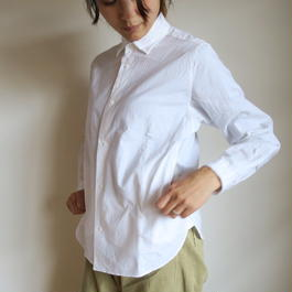 YAECA WOMEN Comfort Shirt wide WHITE