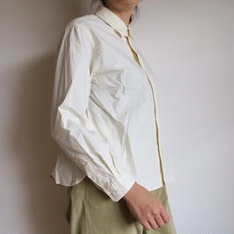 YAECA WOMEN Comfort Shirt wide-short NATURAL