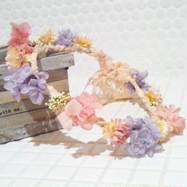 プリザーブドフラワー花冠(spring)
