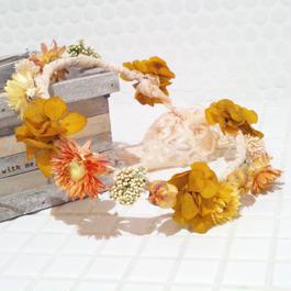 プリザーブドフラワー花冠(autumn)