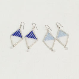 patterie*crack diamond earring/earring*navy*sky*