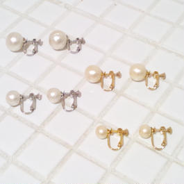 drop*cotton pearl earring