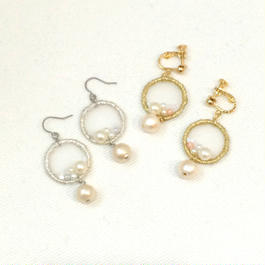 patterie*lastic pearl pierce/earring