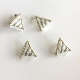 patterie*prism stripe triangle pierce/earring
