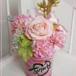 ピンクのカラーサンドアート