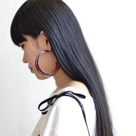 shiki / HOOP PIECES EARRINGS / RED