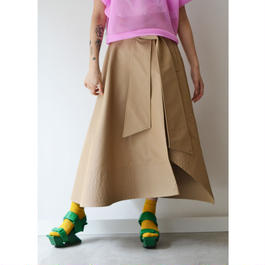near.nippon / FLARE BELTED SKIRT / BEIGE