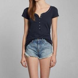 Abercrombie & Fitch  Maggie ヘンリーネックTシャツ