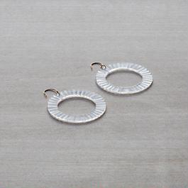 tick - LOOP/plate [hook] - earrings