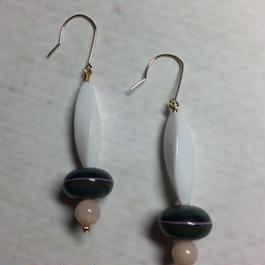 vintage beads pierced