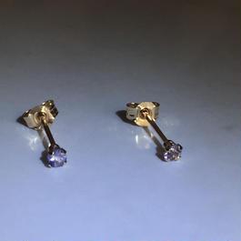 K10ゴールド 天然石アイオライトスタッドピアス