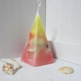 五角錐キャンドル グラデーション3