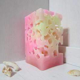 四角柱キャンドル アイス1