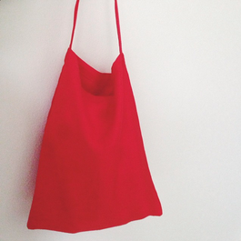 [RED LINEN TOTE-BAG] リネントートバッグ