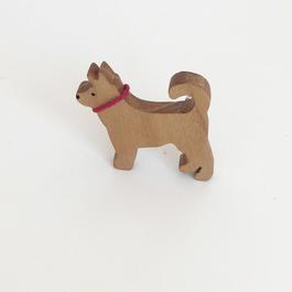 木のブローチ 柴犬