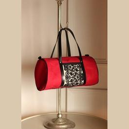 真っ赤なリネン*ミニドラム型バッグ
