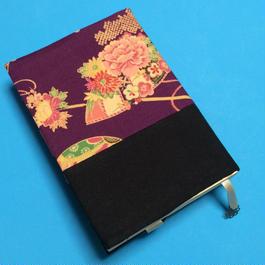 古典花柄・紫地