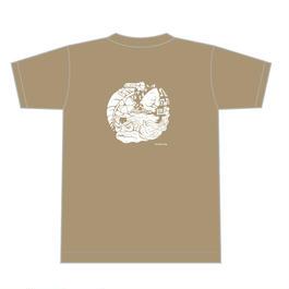チャランケ祭2016オフィシャルTシャツサンドカーキ