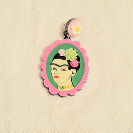 フリーダ(pink×gleen)ピアス/イヤリング