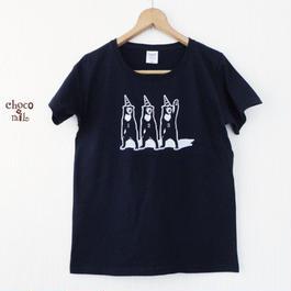 サーカス マレー熊さんTシャツ ネイビー(インク:白)