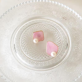 stained glass pink&pearl