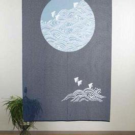 【和風のれん】伝統的な和風のれん「波ちどり柄」