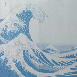【和風のれん】浮世絵・葛飾北斎 富嶽三十六景 神奈川沖浪裏