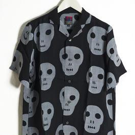 BRUNABOINNE  ネクロマンサーブラックシャツ  ブルーナボイン