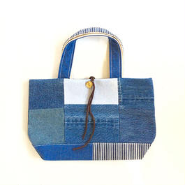 REMADE Patchwork TOTE BAG  Small Size.  (S) デニムパッチワーク