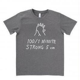 100/1Tシャツ チャコールグレー