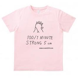 100/1Tシャツ132 ライトピンク
