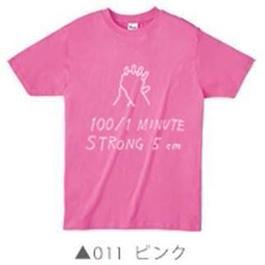 100/1Tシャツ011ピンク