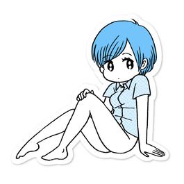 ピンナップガール・ステッカー 01