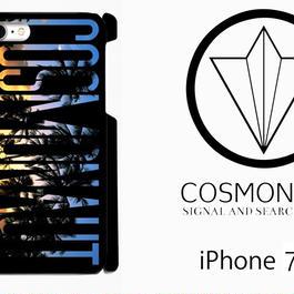"COSMONAUT SAS LOGO  ""Sunset  Palm"" BLACK iPhone Case"
