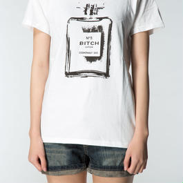 Smell the Like BITCH Girls Tee White