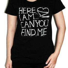 Here I Am... Can You Find Me Tee Girls Black