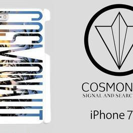 """COSMONAUT SAS LOGO  """"Sunset  Palm"""" WHITE iPhone Case"""