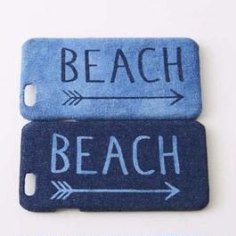 iPhone デニムハードケース  #BEACH→