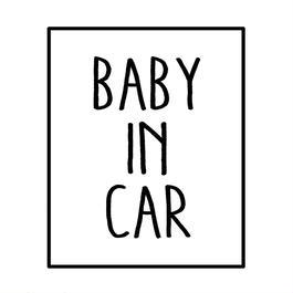 BABY IN CAR  ステッカー全12色  #スクエア手書き風文字