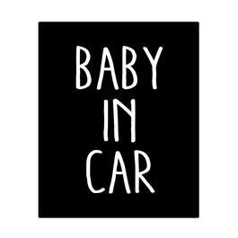 BABY IN CAR  ステッカー全12色  #スクエア塗手書き風文字