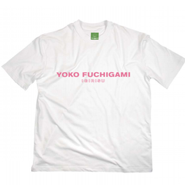 YOKO FUCHIGAMI公式ファッショナブルTシャツ 期間限定桜餅カラーver.