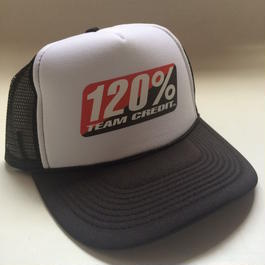 120% TEAM CREDIT  Mesh cap・Trucker Black