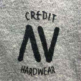 """CREDIT× AA """"CREW NECK"""" SWEAT・Gray"""