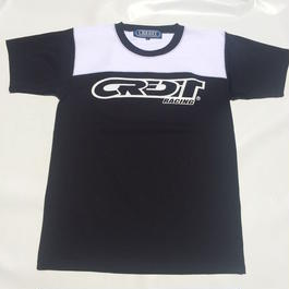 """CREDIT """"ATHLETIC - JERSEY""""  TEE・Black/White"""