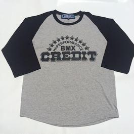 CREDIT CLASSIC BASEBALL STYLE - JERSEY SHIRT・Grey/Black