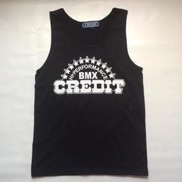 """""""CREDIT"""" TANK-TOP・Black"""