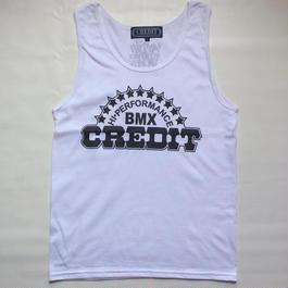 """CREDIT"" TANK-TOP・White"