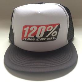 120% TEAM CREDIT Mesh cap・Flat Visor Black
